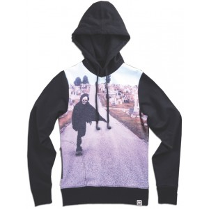 """ SEATON'S SKELLY - SK8 "" Sweat Femme imprimé à capuche"